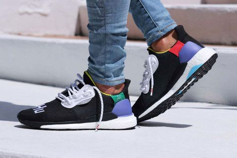 uk availability quite nice temperament shoes The Pharrell Williams x adidas Solar Hu Glide St Surfaces in an ...