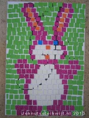 Paashaas van mozaiek