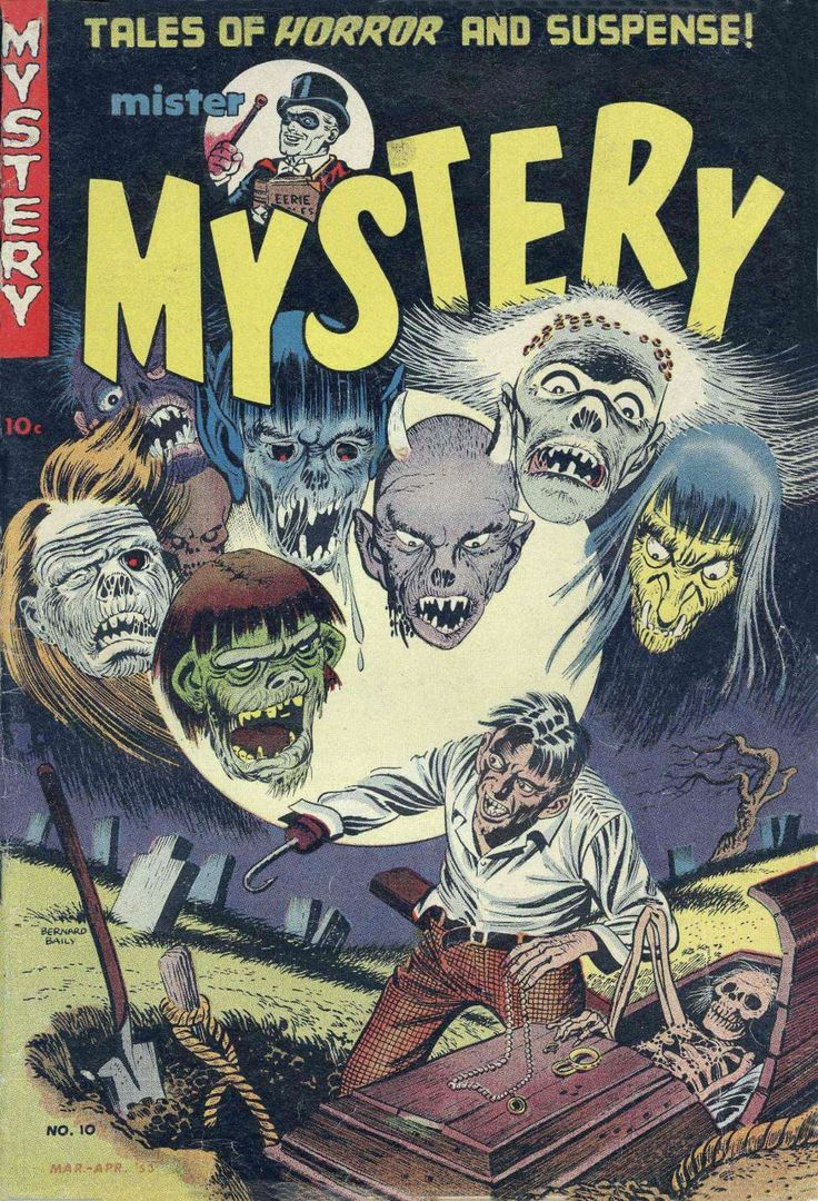 Comic Book Cover For Mister Mystery v1 #10