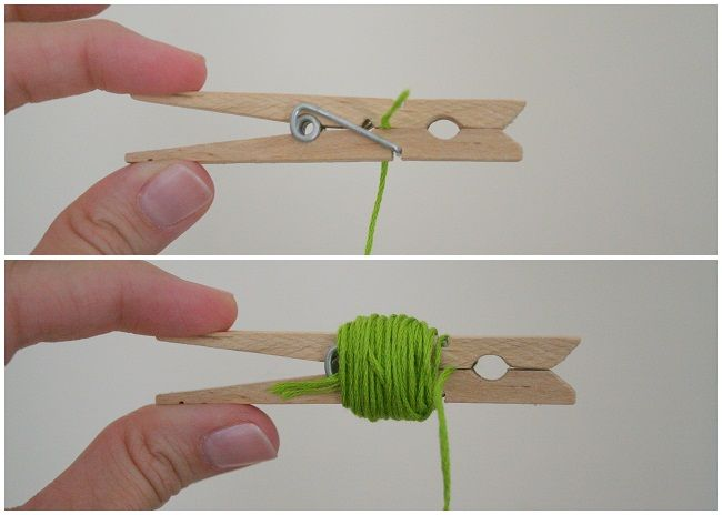 Sara Stoff: Embroidery Floss Storage -- Super easy and good way to store your floss. You can even hang the clothespins on a string. DIY