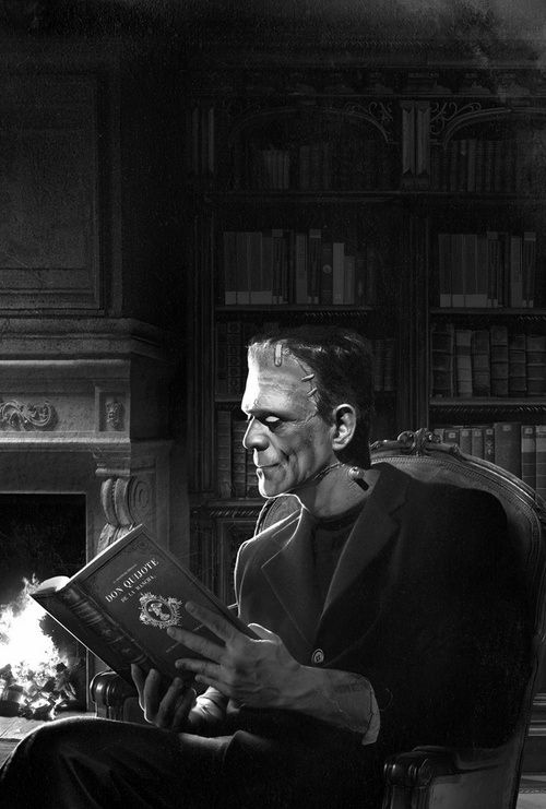 everyone loves a good book ~ for your love of Herman Munster and reading.. close enough!
