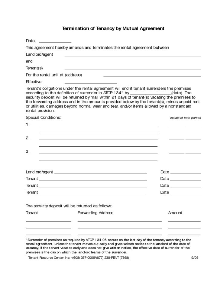 agreement form mutual termination letter and employment contract free download