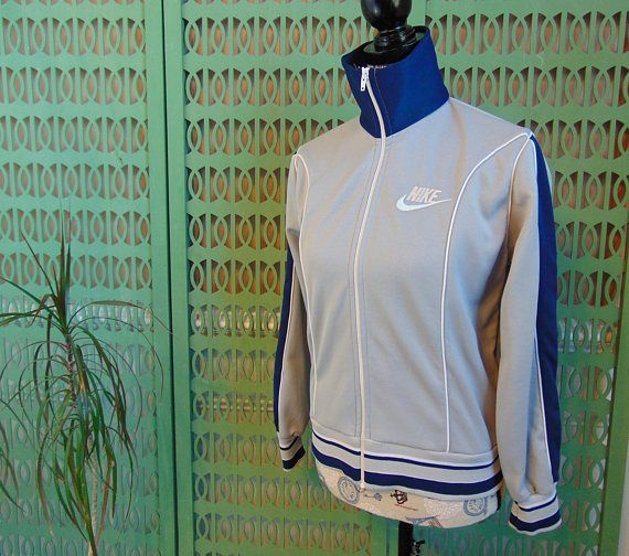 80s Nike Track Jacket Vintage Nike Tracksuit Top with