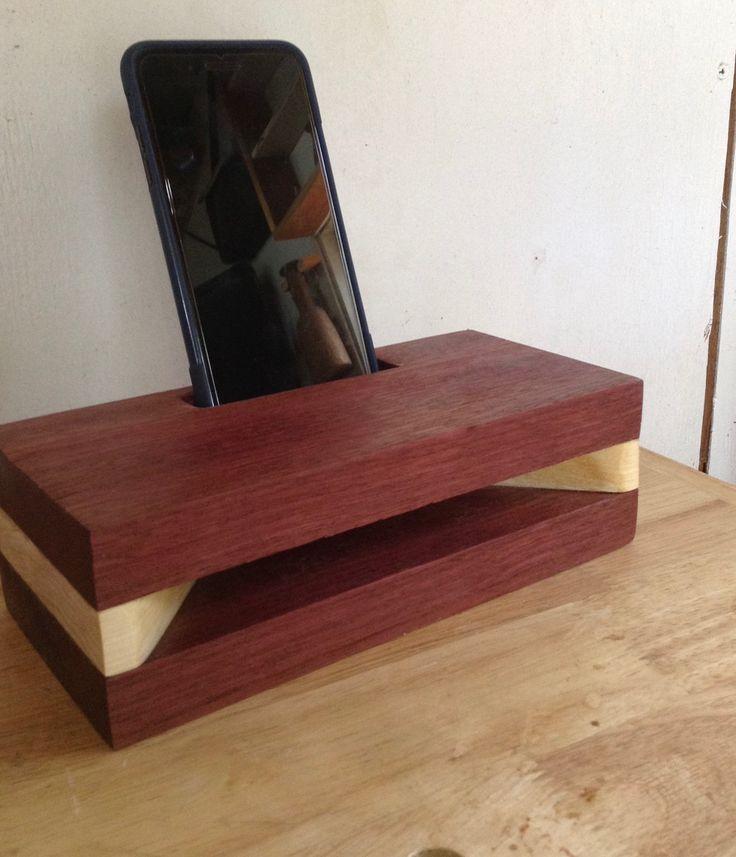 Purple Heart wood passive speaker