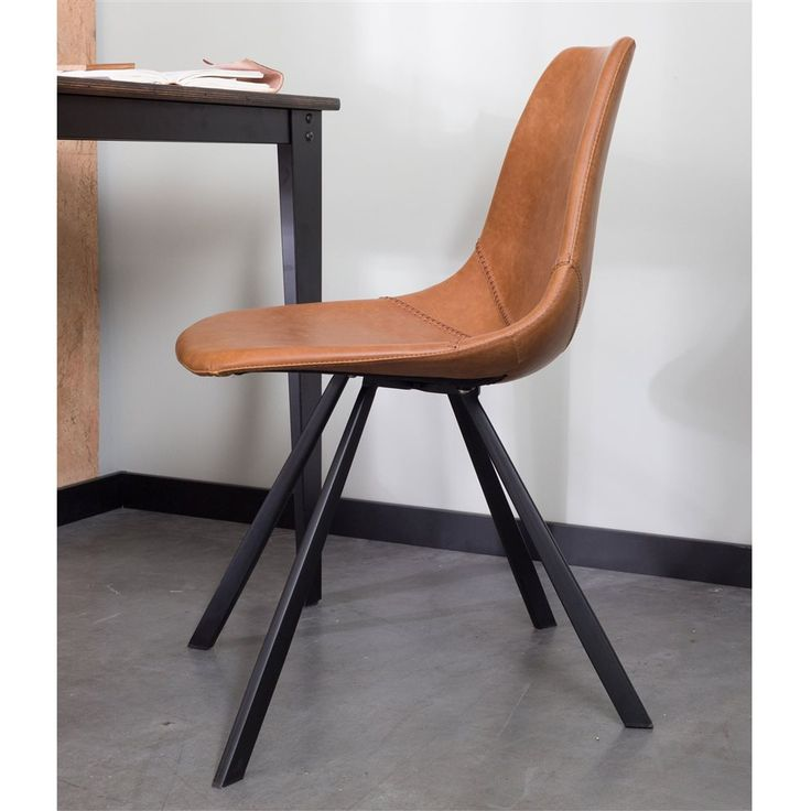 Zie jij op welke sport de Dutchbone Franky stoel geïnspireerd is? Een kleine hint: kijk eens naar de dikke stiksels die in een ronde vorm lopen. Het stalen onderstel in combinatie met de PU kunstleren zitting geeft Franky een stoere vintage look!