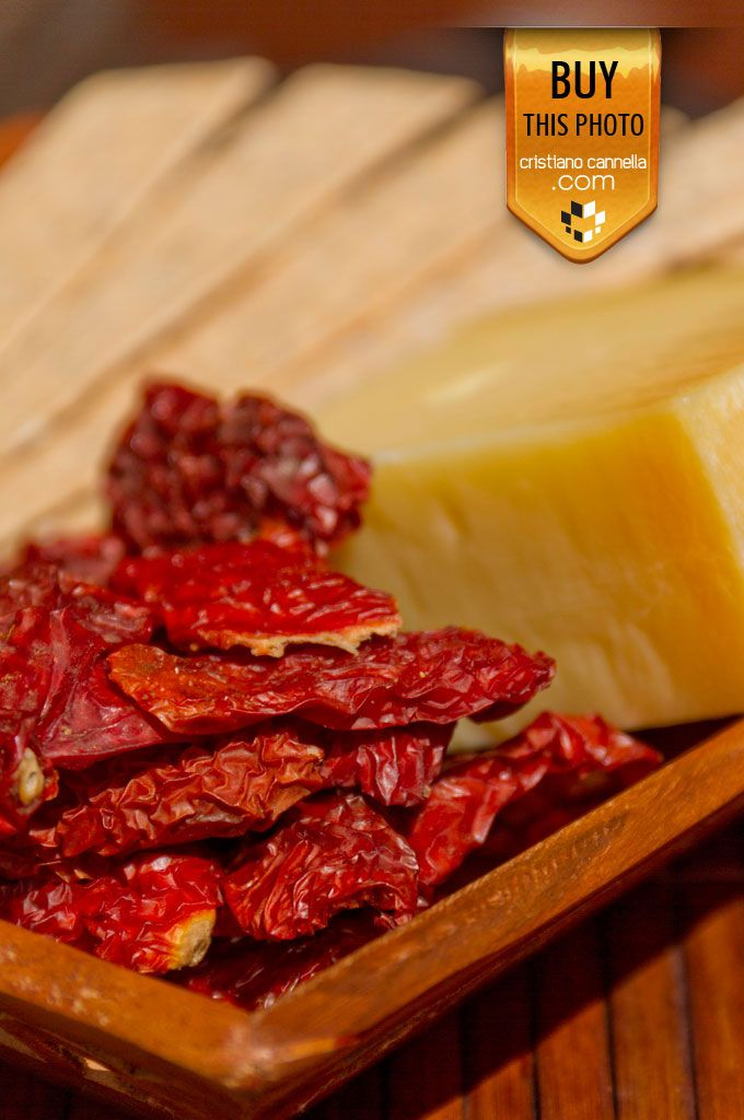 Sun dried tomatoes and sicilian cheese