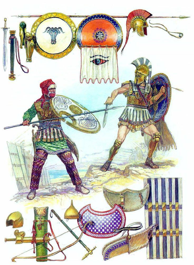 Greek Hoplite vs Persian Immortal