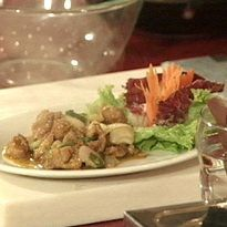 Chicken Lemon Grass Chilli | Corn flour coated deep fried chicken, sauteed with a range of herbs.