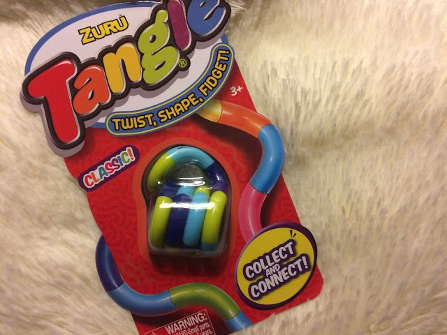 Zuru Tangle: Twist, Shape, Fidget Toy available at Walmart and Toys R Us. Stocking stuffer for less than $5!