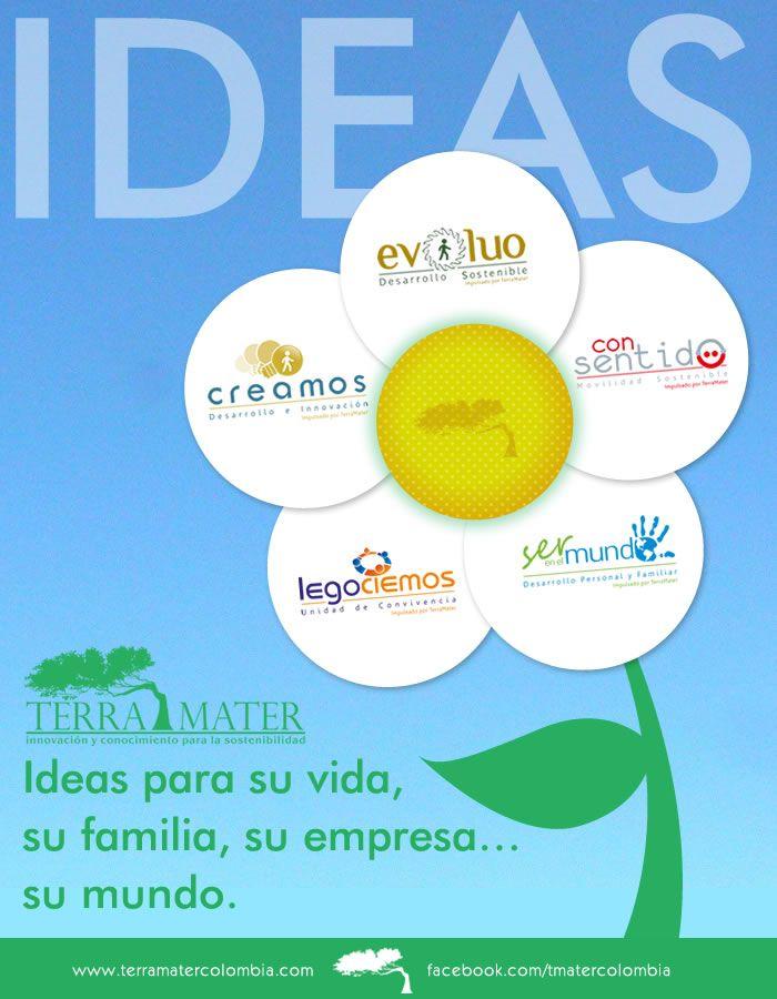 Ideas Terra Mater. En Terra Mater desarrollamos ideas que generan beneficios a su vida, su familia, su empresa, su mundo.