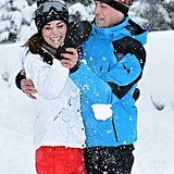A short vacation in the French Alps yielded this adorable snow fight between Kate and Will.