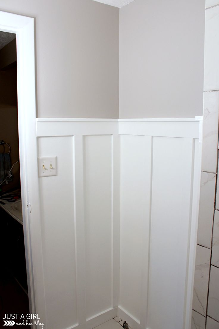Wainscot solutions inc custom assembled wainscoting - Spruce Up Your Small Space With Beautiful Board And Batten This Simple Detailed Tutorial