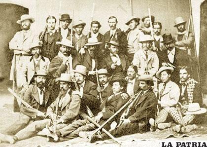 Defensores de Calama en la Batalla de Topater. 23 de marzo de 1879