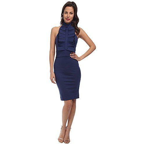 (ディースクエアード) DSQUARED2 レディース トップス ワンピース Fitted Ruffle Dress 並行輸入品  新品【取り寄せ商品のため、お届けまでに2週間前後かかります。】 表示サイズ表はすべて【参考サイズ】です。ご不明点はお問合せ下さい。 カラー:Blue