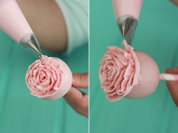 Rose Cake Pops Step-by-Step Tutorial