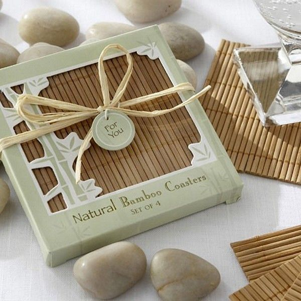 Buy Kate Aspen Natural Bamboo Eco Friendly Coaster Favors Set Of And Other Party Personalized Gifts