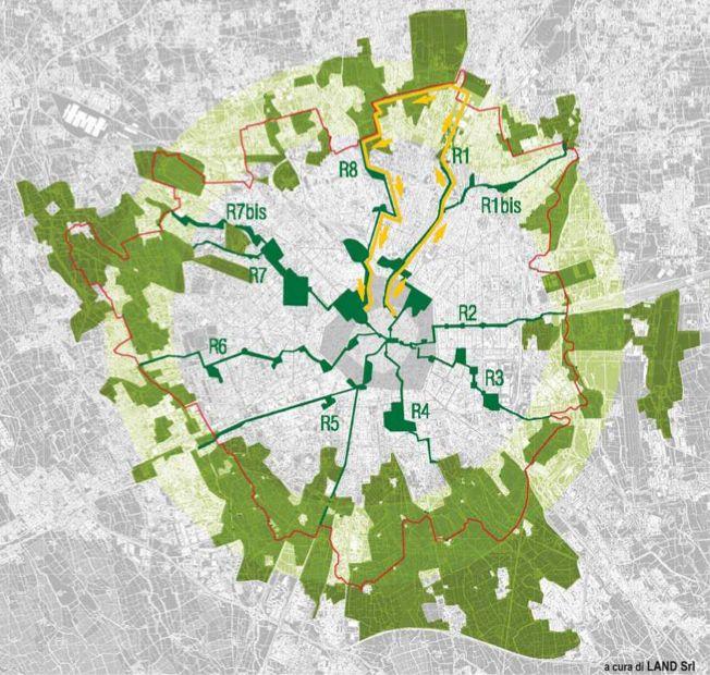 green rays   milan   urban planning