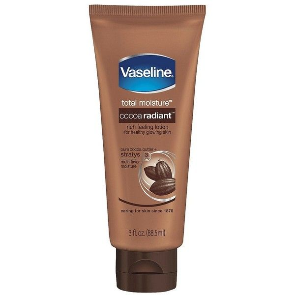 Vaseline Cocoa Butter Lotion 3 oz ($1.84) ❤ liked on Polyvore featuring beauty products, bath & body products, body moisturizers, beauty, fillers, lotions and body
