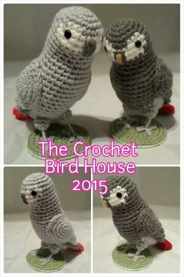 African Greys Crochet Parrots                                                                                                                                                     More