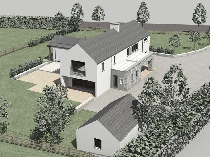 <p>This project was conceived as a contemporary variation on the traditional 2 storey gabled rural dwelling.</p>  <p>The design employs single storey elements to enclose external space adjacent to the 2 storey main volume of the dwelling.</p>  <p>The design proposal was devised to maximise passive solar gain, by maximising glazing on south rear elevation.</p>  <p>This glazing is overhung by roofs to minimize overheating in summer.<&#...