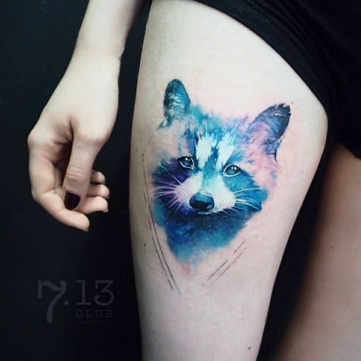 Raccoon Tattoo by Irina Doroschenko