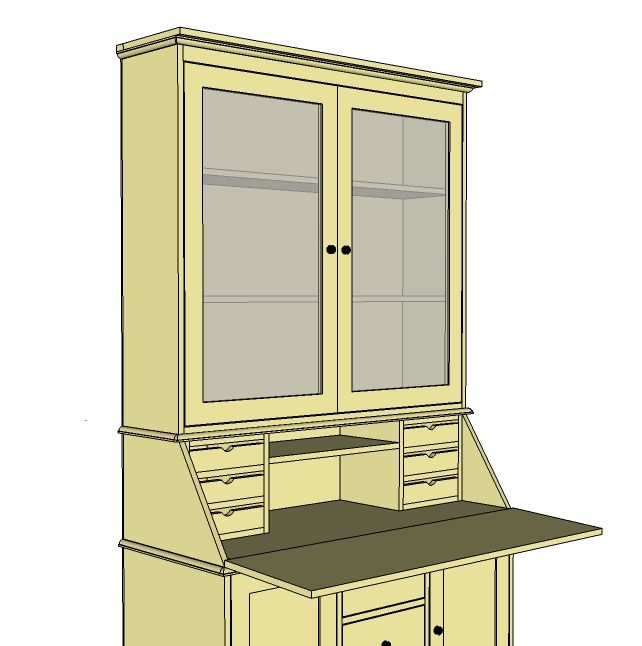 Writing Desk With Hutch Plans Woodworking Projects Amp Plans