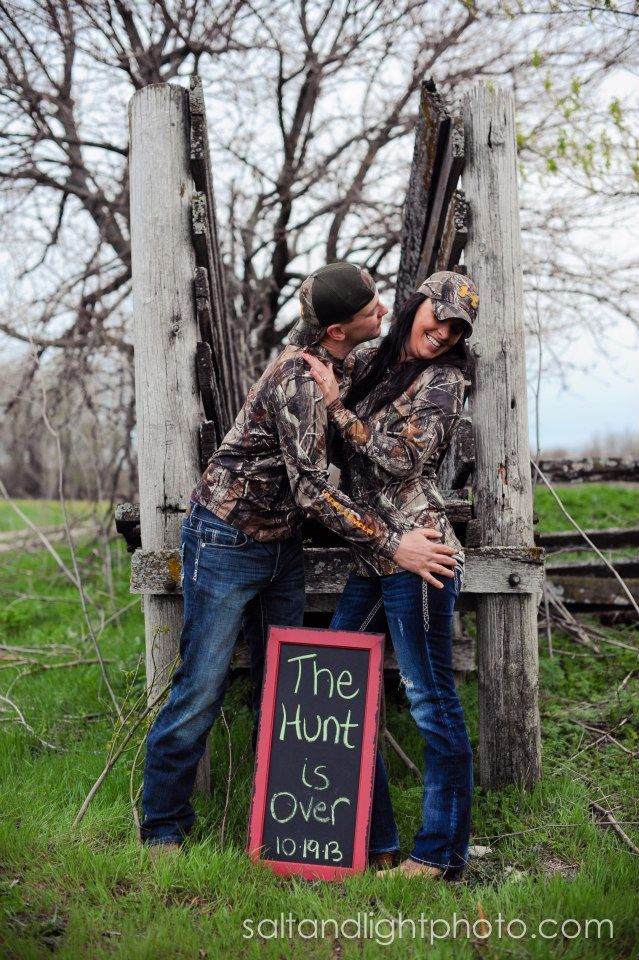 """""""The Hunt Is Over"""" Not really into camo but this is so adorable."""