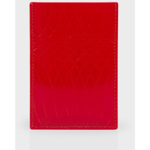 Paul Smith No.9 Red Patent Leather Credit Card Holder ($160) ❤ liked on Polyvore featuring accessories, patent red and paul smith