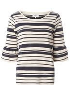 Womens **Only Multi Coloured Stripe Jumper- Blue