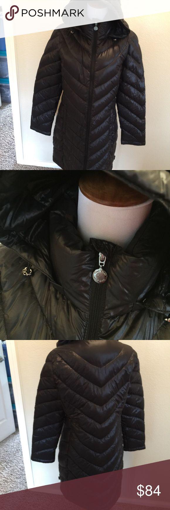 """Calvin Klein black down packable coat M Black nylon packable long coat  Size M Down Center back length 35"""" Calvin Klein Jackets & Coats Puffers"""