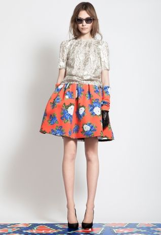 msgmFashion Skirts, Full Skirts, Floral Skirts, Summer Wardrobes, Looks Book, Msgm Prefall, Gloves, Pre Fal, Prefall 2012
