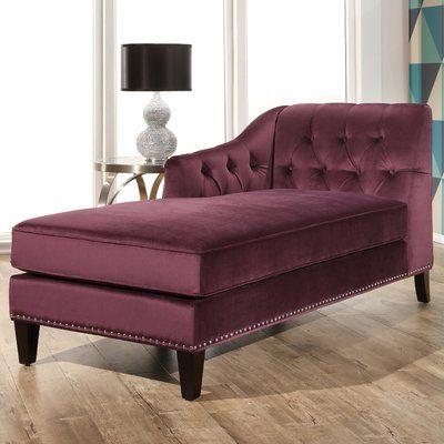 Macdonald Velvet Chaise Lounge Upholstery: Purple - http://delanico.com/chaise-lounges/macdonald-velvet-chaise-lounge-upholstery-purple-725782330/