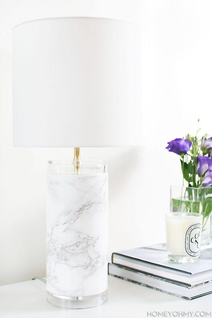 22 faux marble lamp base