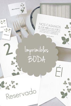 Imprimibles para boda                                                                                                                                                                                 Más