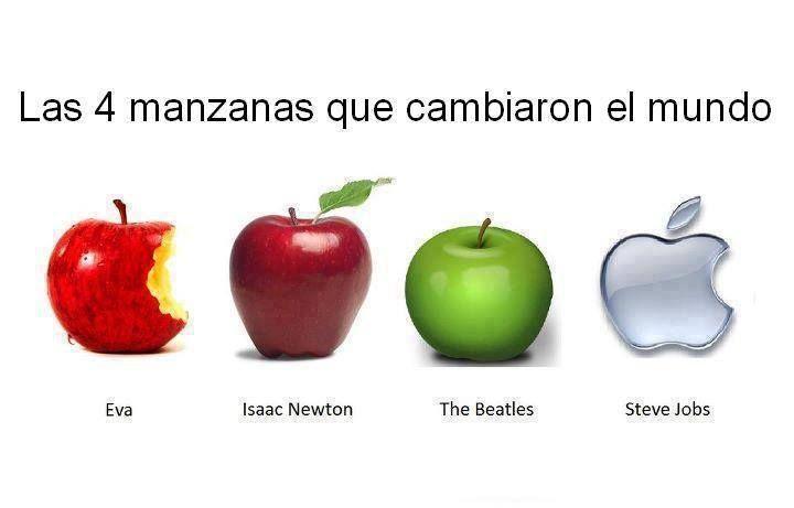 Las cuatro manzanas que cambiaron el mundo