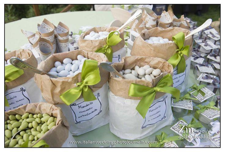 saccotti per confettata fatti a mano