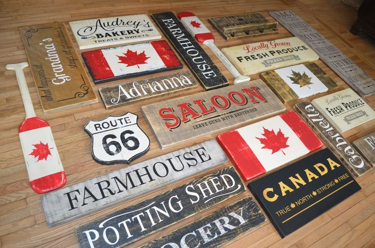"CUSTOM WOOD SIGN COLLECTION, CANADA FLAG, FARMHOUSE SIGN COLLECTION, RUSTIC, 1"" ROUGH CUT SOLID PINE, HAND CRAFTED WOOD SIGNS, COTTAGE SIGNS, PAINTED WOOD SIGNS, BARN BOARD SIGNS, KITCHEN SIGN, FARMHOUSE KITCHEN, CHIC WALL DECOR, HOME DECOR, VINTAGE SIGNS, RECLAIMED WOOD SIGNS, ANTIQUE WOOD SIGNS, DISTRESSED WOOD SIGN, CUSTOM WOOD SIGNS, CANADA WOODWORKS, ALLISTON ONTARIO CANADA, CANADAWOODWORKS.COM"