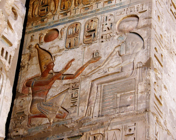 Pharaoh King Ramsis III , presenting offerings to War Goddess Sekhmet ( the strong Lady with Lioness head ) - Temple of Karnak - LuxorPharaoh, Lionesses Head, Egyptomania مصر, Ancient Egypt, Goddesses Sekhmet, Egypt Anci History, Ancient Eygpt, King Ramsy, Iii