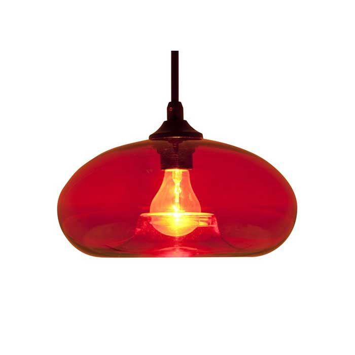William Red Glass Pendant Lighting