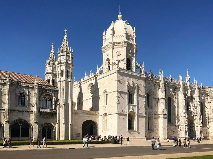This is The Jeronimos Monastery in Lisbon Portugal. It was founded in 16th century and now is classified as Unesco World Heritage Site. Such an exciting building!