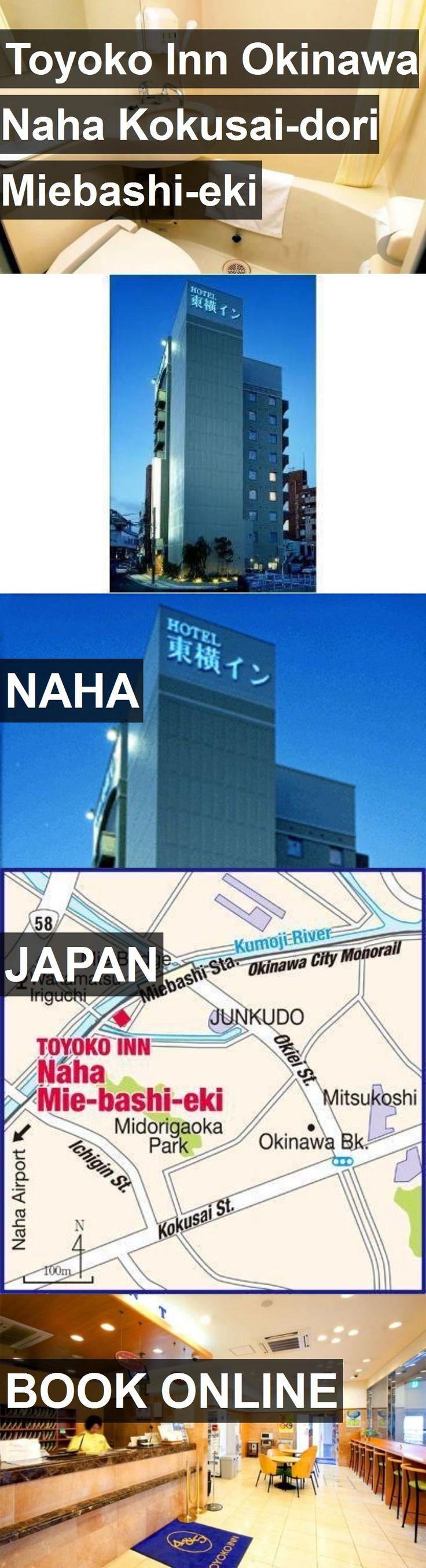 Hotel Toyoko Inn Okinawa Naha Kokusai-dori Miebashi-eki in Naha, Japan. For more information, photos, reviews and best prices please follow the link. #Japan #Naha #travel #vacation #hotel