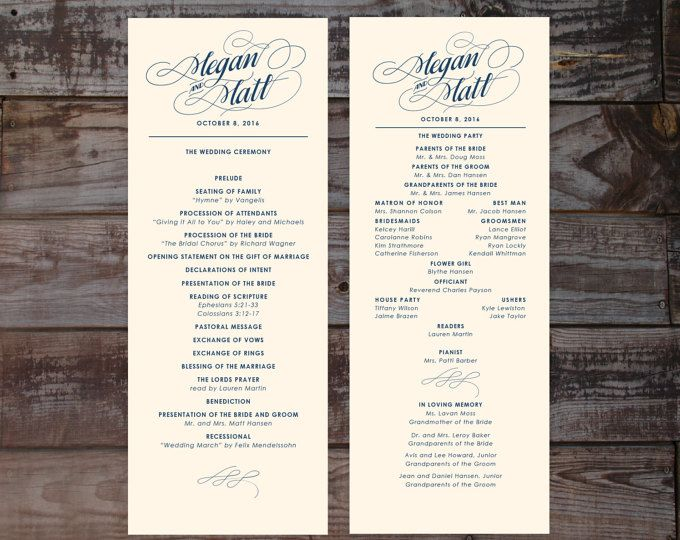Best Wedding Program Template Word Ideas On Pinterest