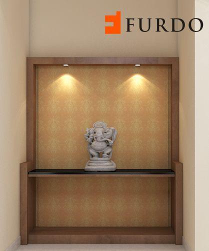 Contemporary Minimalist And Simple Deity Space Mandir: 265 Best Puja Rooms / Mandir Designs/Indian Hindu Home