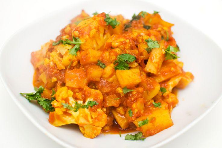 Aloo gobi - indisk gryte med potet og blomkål