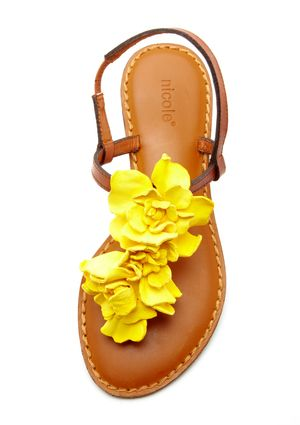 Nicole - Yellow Petals. Prettiest sandals ever, I wonder if they come in other colors?