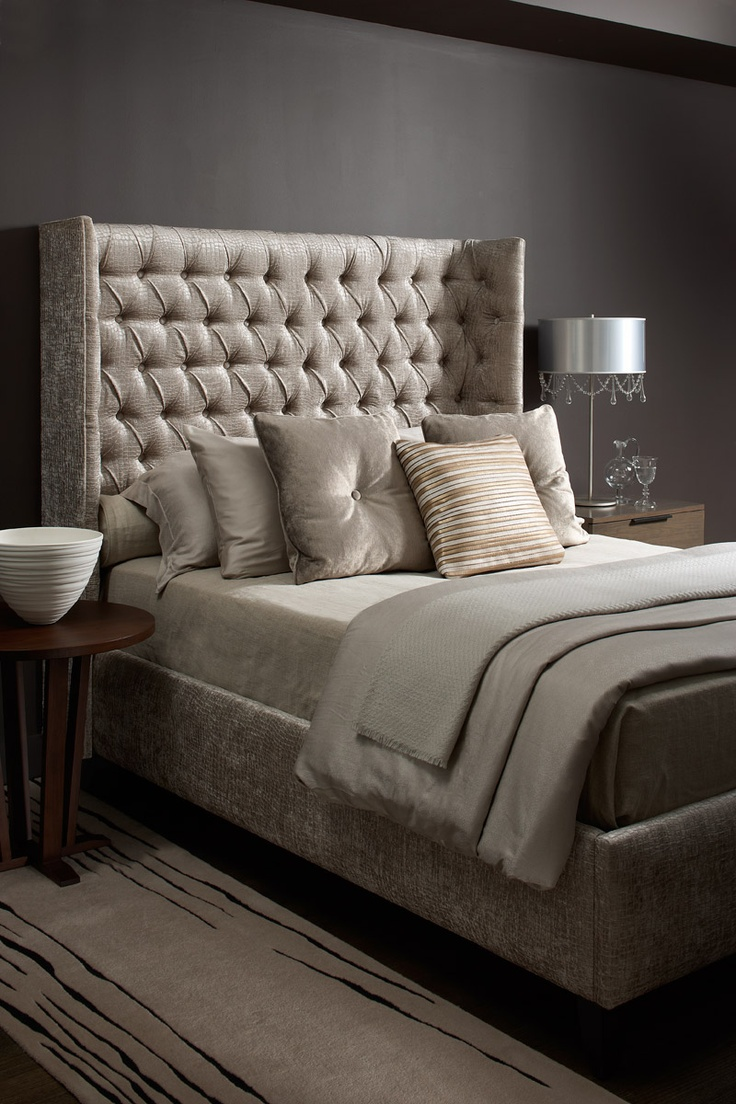 Luxurious Glam Tufted Upholstered Bed