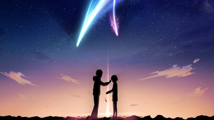 Your Name Taki And Mitsuha Anime Comet Wallpaper In 2019