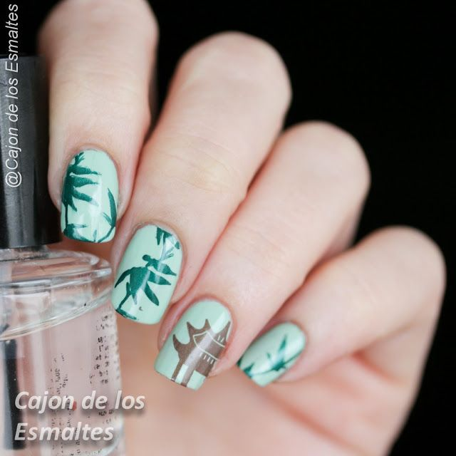 744 best nail art to try images on pinterest nail art enamel eastern nail art bamboo leaves and chinese pavilion hehe stamping 45 prinsesfo Gallery