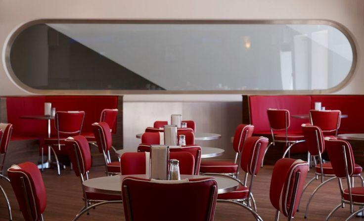 The Diner, Costa Navarino Greece - mkv design. 1960s American diner
