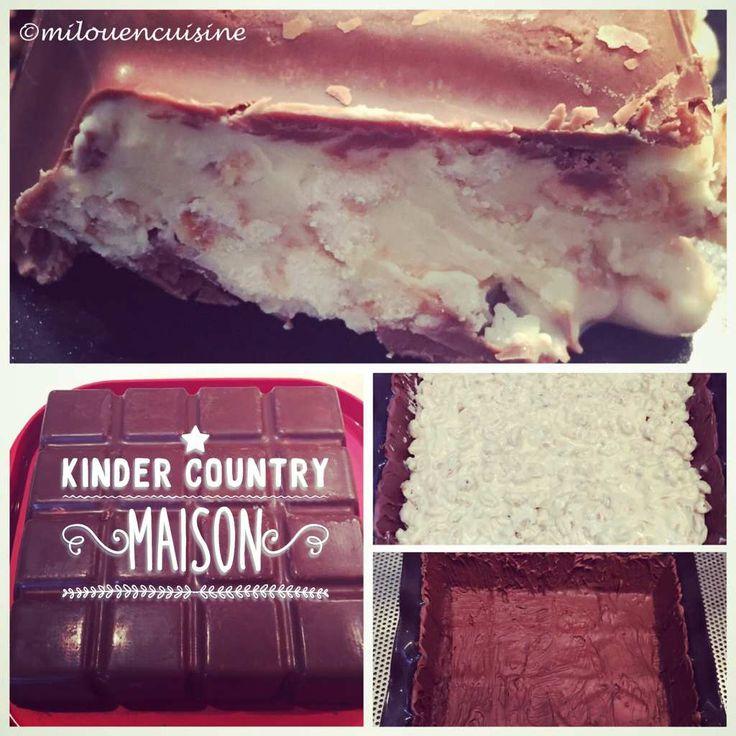 kinder country maison thermomix Comme promis c'est une recette au chocolat que je vous propose aujourd'hui ! Je pense que nous sommes nombreux à aimer les chocolats de la célèbre marque avec un K, c'est donc une recette qui ravira petits et grands gourmands...
